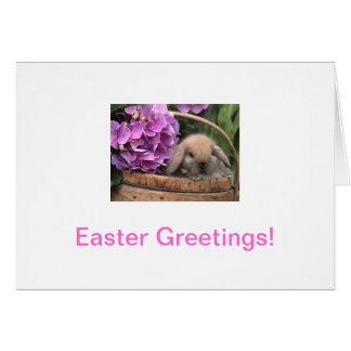 Brown Bunny Rabbit Easter Card