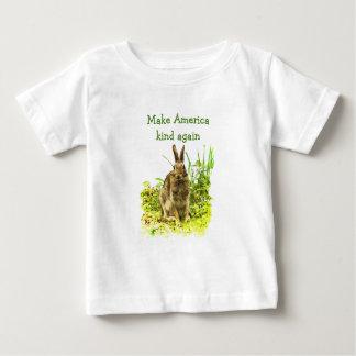 Brown Bunny Rabbit Make American Kind Again Baby T-Shirt