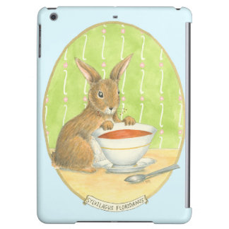 Brown Bunny with Cup of Coffee iPad Air Cover