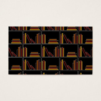 Brown, Burgundy and Mustard Color Books on Shelf. Business Card