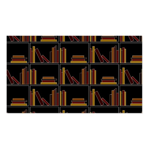 Brown, Burgundy and Mustard Color Books on Shelf. Business Cards
