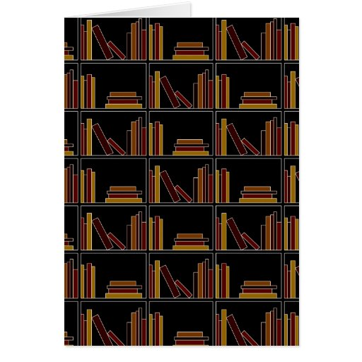 Brown, Burgundy and Mustard Color Books on Shelf. Card