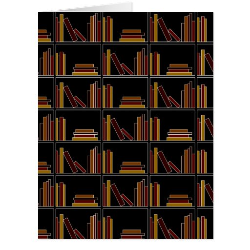 Brown, Burgundy and Mustard Color Books on Shelf. Cards