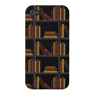 Brown, Burgundy and Mustard Color Books on Shelf. Cases For iPhone 4