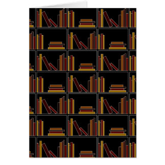 Brown, Burgundy and Mustard Color Books on Shelf. Greeting Card