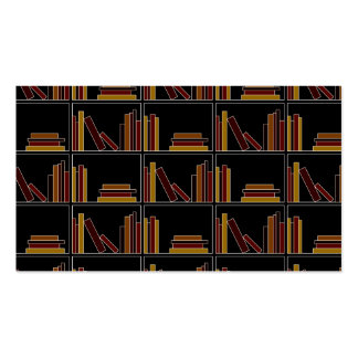 Brown, Burgundy and Mustard Color Books on Shelf. Pack Of Standard Business Cards