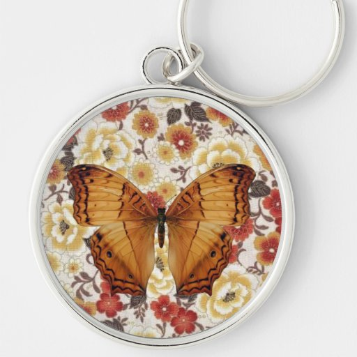 Brown Butterfly Moth Key Chains