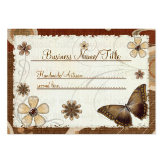 Brown Butterfly Musings Jeweled HANDMADE  ONLINE Pack Of Chubby Business Cards