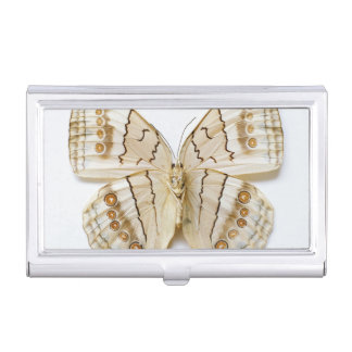 Brown Butterfly, overhead view Business Card Holder