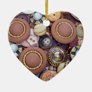 Brown Buttons, Christmas Ornament