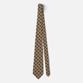 Brown buttons   tie