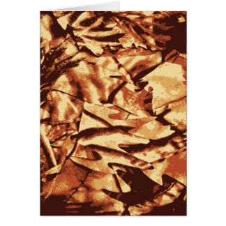 Brown Camo Camouflage Gifts for Hunters Card