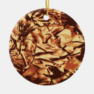 Brown Camo Camouflage Gifts for Hunters Christmas Ornament