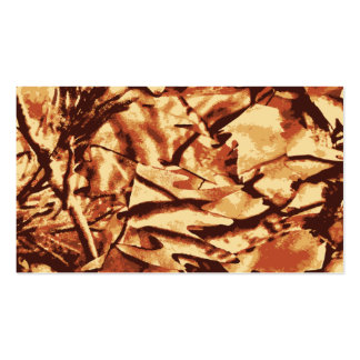 Brown Camo Camouflage Gifts for Hunters Pack Of Standard Business Cards