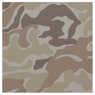 Brown Camo Military Fabric