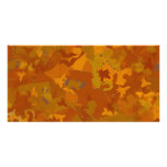 brown camo oak colour pattern collage customized photo card