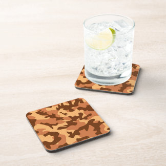 brown camouflage army texture coaster