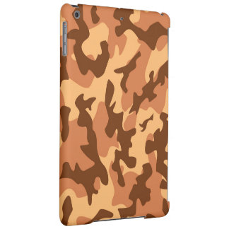 brown camouflage army texture iPad air case