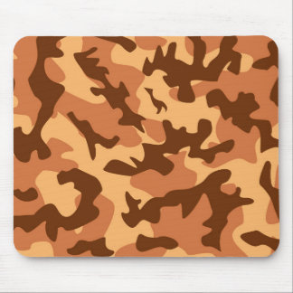 brown camouflage army texture mouse pad