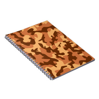 brown camouflage army texture spiral notebook
