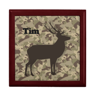 Brown Camouflage Buck Gift Box