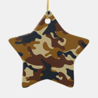 Brown Camouflage Christmas Ornament