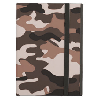 Brown Camouflage Cover For iPad Air