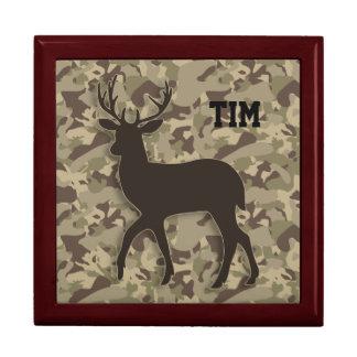 Brown Camouflage Deer Gift Box