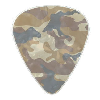 Brown Camouflage Pearl Celluloid Guitar Pick