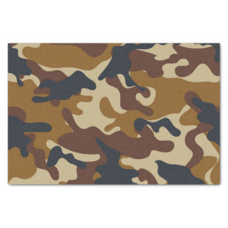 Brown Camouflage Tissue Paper