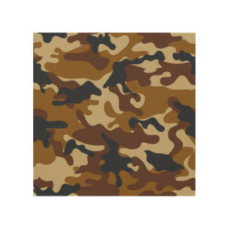Brown Camouflage Wood Wall Art