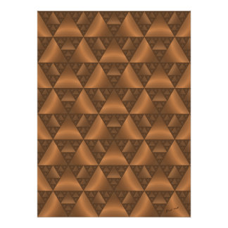 Brown Canopy Fractal print