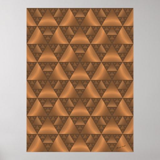 Brown Canopy Fractal print