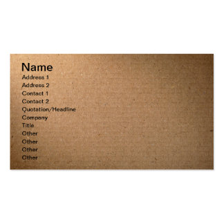 Brown Cardboard Texture For Background Pack Of Standard Business Cards