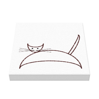 Brown cat canvas