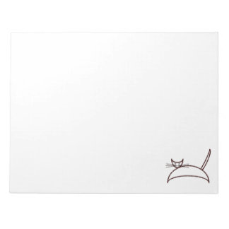 Brown cat notepad