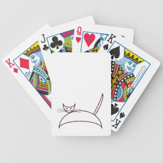 Brown cat playing cards