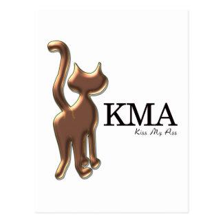 Brown Cat Says KMA Postcard