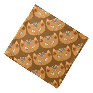 Brown Cat Southwest Pattern Bandana