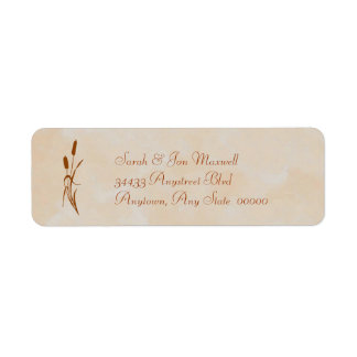 Brown Cattail Return Address Label
