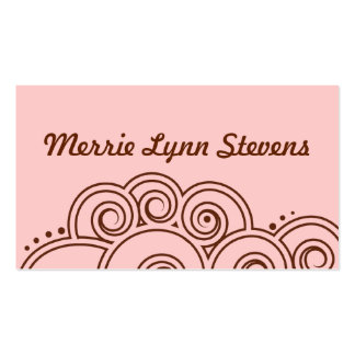 Brown Charming Swirls Calling Card Pack Of Standard Business Cards