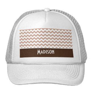 Brown Chevron Hats
