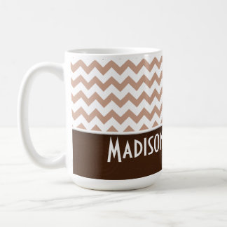 Brown Chevron Mugs