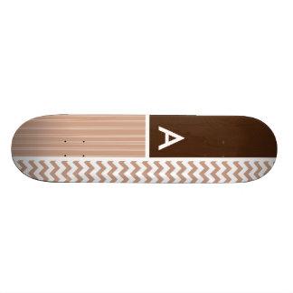 Brown Chevron Pattern Skate Boards