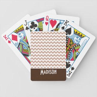 Brown Chevron Poker Deck