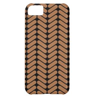 Brown Chevrons, similar to pattern of knitting. iPhone 5C Case