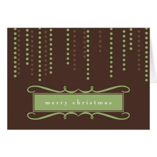Brown chic icicles Christmas holiday business logo Cards