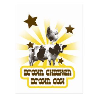 Brown Chicken Brown Cow 2 Postcard