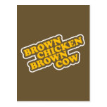 Brown Chicken Brown Cow Post Card