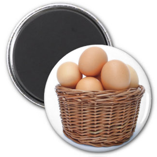 Brown Chicken Eggs Magnet